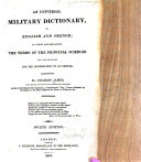 An Universal Military Dictionary, in English and French