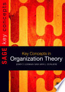 Cover of Key Concepts in Organization Theory