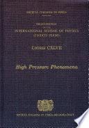 High Pressure Phenomena Book