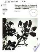 Common Shrubs of Chaparral and Associated Ecosystems of Southern California