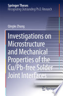 Investigations On Microstructure And Mechanical Properties Of The Cu Pb Free Solder Joint Interfaces