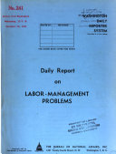 Daily Report on Labor management Problems