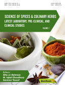 Science of Spices and Culinary Herbs   Latest Laboratory  Pre clinical  and Clinical Studies Book