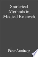 Statistical Methods In Medical Research Book PDF