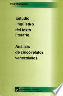 Estudio lingüístico del texto literario