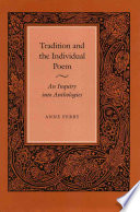 Tradition And The Individual Poem