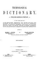Technologisches wörterbuch, deutsch-englisch-französisch