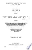 Letter of the Secretary of War, Submitting an Itemized Statement of Personal Property which was Purchased Or Procured and Intrusted to Any Officer, Civil Or Military, in Cuba During the Period from January 1, 1899, to April 30, 1900, the Cost and Value of the Same, and the Uses to which Said Property Has Been Put, and the Disposition which Has Been Made Thereof ... January 21, 1901 [-April 10, 1901]