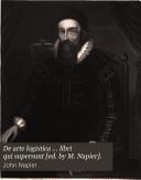 De arte logistica     libri qui supersunt  ed  by M  Napier