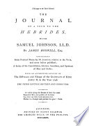 Boswell S Life Of Johnson Tour To The Hebrides 1773 And Journey Into North Wales 1774