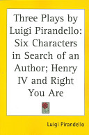 Three Plays by Luigi Pirandello
