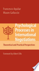 Psychological Processes In International Negotiations Book PDF