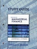 Study Guide for Principles of Managerial Finance