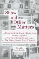 Shaw and Other Matters