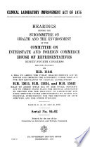 Clinical Laboratory Improvement Act of 1976