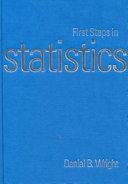 First Steps in Statistics Book