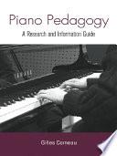 Piano Pedagogy Book PDF