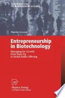 Entrepreneurship in Biotechnology