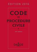 Code de procédure civile 2016