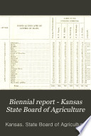 Biennial Report - Kansas State Board of Agriculture