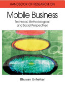Pdf Handbook of Research in Mobile Business: Technical, Methodological, and Social Perspectives Telecharger