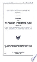 The United States Singapore Free Trade Agreement Book