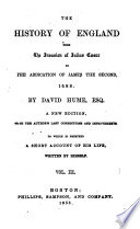 The History of England from the Invasion of Julius Caesar to the Abdication of James the Second, 1688