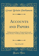 Accounts and Papers  Vol  29 of 29