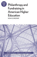 Philanthropy and Fundraising in American Higher Education  Volume 37  Number 2