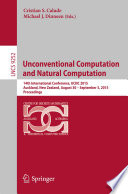 Unconventional Computation and Natural Computation
