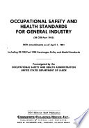 Occupational Safety And Health Standards For General Industry 29 Cfr Part 1910