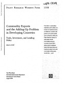 Commodity Exports and the Adding up Problem in LDCs