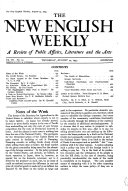 Pdf The New English Weekly