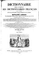 Dictionnaire général et grammatical des dictionnaires français