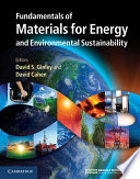 """Fundamentals of Materials for Energy and Environmental Sustainability"" by David S. Ginley, David Cahen"
