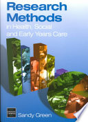 Research Methods In Health Social And Early Years Care