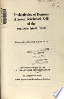 Productivities of Horizons of Seven Benchmark Soils of the Southern Great Plains