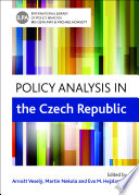 Policy analysis in the Czech Republic Book