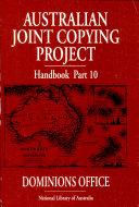 Australian Joint Copying Project Handbook