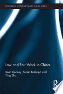 Law and Fair Work in China Book