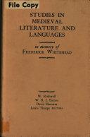 Studies in Medieval Literature and Languages