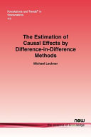 The Estimation of Causal Effects by Difference in difference Methods