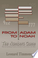 From Adam To Noah The Numbers Game