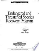 Endangered and Threatened Species Recovery Program