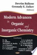 Modern Advances In Organic And Inorganic Chemistry Book PDF