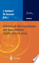 Advanced Microsystems for Automotive Applications 2003 Book PDF
