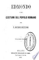 Edmondo, o Dei costumi del popolo romano