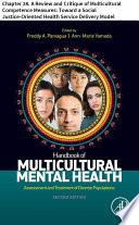 Handbook of Multicultural Mental Health Book