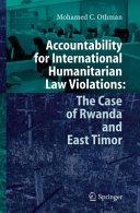 Accountability for International Humanitarian Law Violations: The ...
