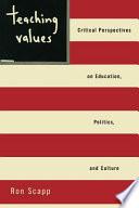 Teaching Values Book